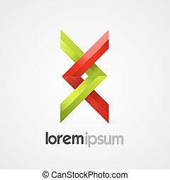 Creative abstract symbol vector template.