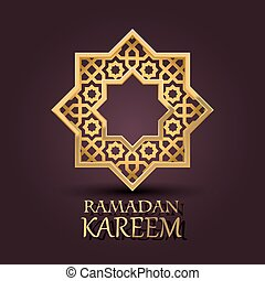 Eight-pointed star. Ramadan Kareem cover. - Eight-pointed...