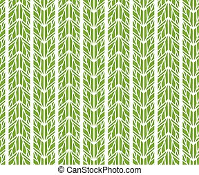 Abstract geometric green leaves pattern