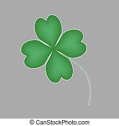 four leaf clover icon- vector illustration