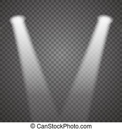 Transparent Realistic Vector Stage Light Effect