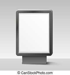 Blank Lightbox, or Signboard on white background. Vector...