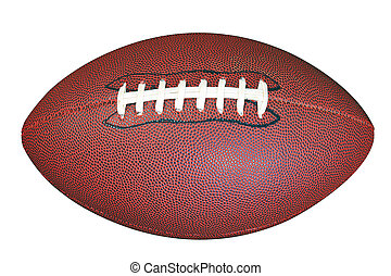 American football isolated clipping path