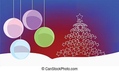 xmas background - vector illustration xmas background