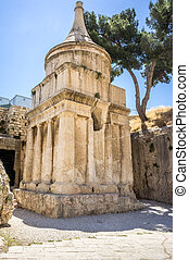 The Tomb of Absalom in Jerusalem, Israel - The Tomb of...