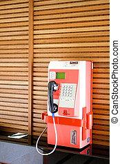 Orange Payphone