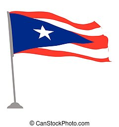 Flag of Puerto Rico - Isolated flag of Puerto Rico, Vector...