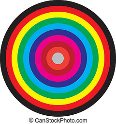 Target concentric circles of colors - Target, concentric...