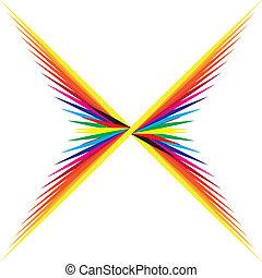 X shape color swatch