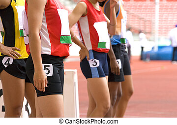 Sprint Athletes - Image of female 100 meter athletes...