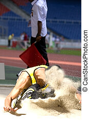 Long Jump - Image of a long jumper in action.