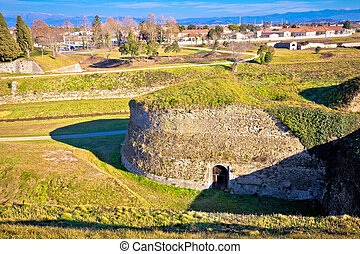 Town of Palmanova defense walls and trenches, UNESCO world...