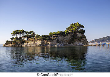 Cameo island at Zakynthos, Greece - View of Cameo island at...