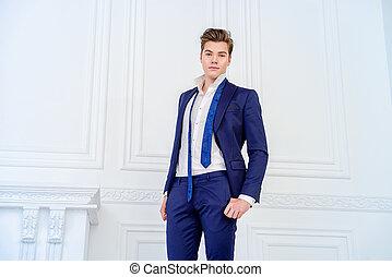 good-looking handsome man - Handsome young man in elegant...