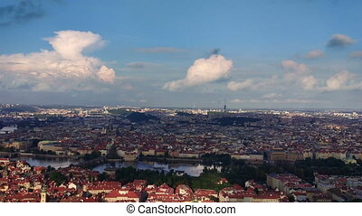Panorama of historical center of Prague (View from the...