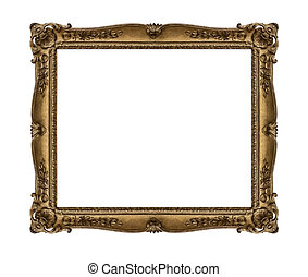 Old picture frame. - Old picture frame isolated on white...