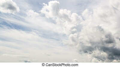 4k Time-lapse photography daytime sky with fluffy clouds...