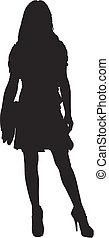 silhouette of a sexy girl standing
