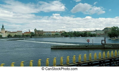 Panorama of historical center of Prague - Panorama of Vltava...