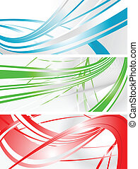 Vibrant banners - Set of abstract wavy banners