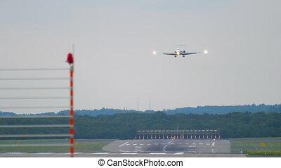 Regional jet approaching before landing - Regional jet...