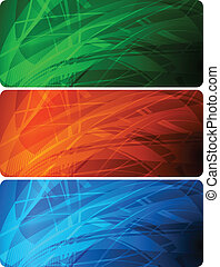 Vibrant banners - Set of abstract negligent banners