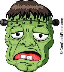 frankenstein head cartoon - illustration of frankenstein...