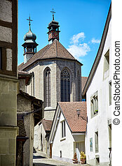 Street view of OLD Town Fribourg, Switzerland