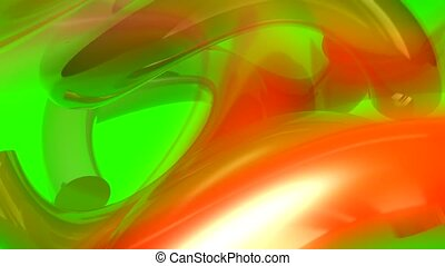 Orange and green liquid