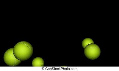 Tennis Balls Bounce