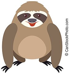 Cute sloth with round body illustration