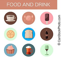 food and drink flat icon
