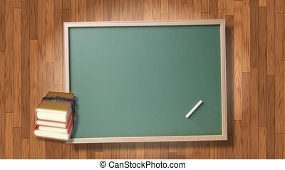 Chalk Board and School Books
