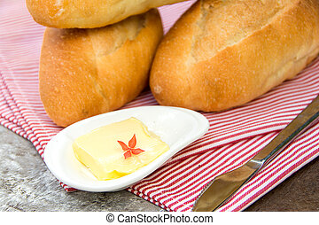 bread  with fresh butter