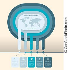 Diagram with five options - Vector diagram for infographic....