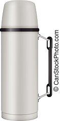 Thermos jug mockup, realistic style - Thermos jug mockup....