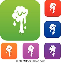 Dripping slime set color collection - Dripping slime set...