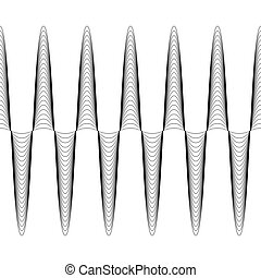 Set of waves with augmented amplitude, the vector of...