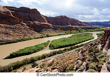Moab Portal View of Colorado River