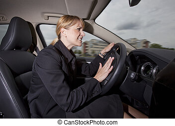 Woman in the car