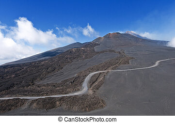 Way to the top of Mount Etna