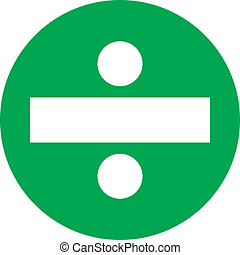 Green Circle Division - A white division symbol in a green...