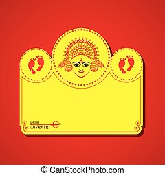 Navratri utsav greeting card - Illustration of Navratri...