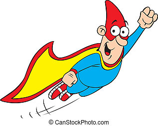 Geek hero - Vector illustration of cartoon geek hero...