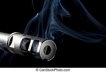 Smoking barrel - Barrel on an assault rifle that is...