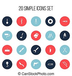 Set Of 20 Editable Instrument Icons. Includes Symbols Such...