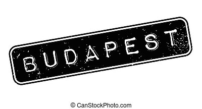 Budapest rubber stamp. Grunge design with dust scratches....