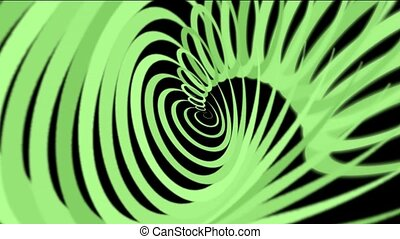 green helix lines,spiral lines