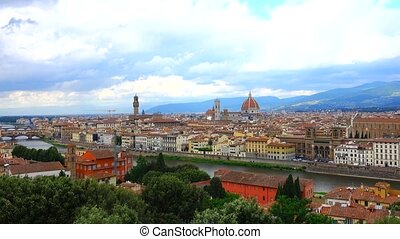 Florence, Italy - Florence Duomo and city skyline, Florence,...