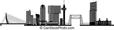 Rotterdam skyline netherlands with text - rotterdam skyline...